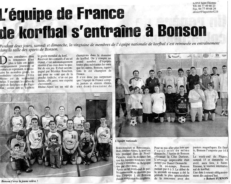 A S L 2006 Bonson Equipe Entraine De France Korfbal 03 4L3ARj5